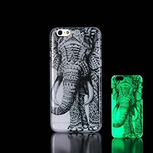 elefantes patrón resplandor en el caso duro para el iphone oscuro 6 más