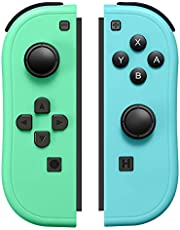 JoyCon Controller Compatible with Switch Joy Cons with Grip Hand,Switch Controllers Supports Wake-up Function (Blue and Green)