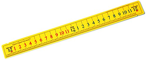 Learning Advantage 7537 Student Elapsed Time Ruler (Elapsed Time Number Line)