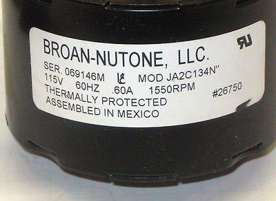 NuTone 26750ser Ventilation Fan Motor