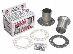 Hedman Hedders 21141 Hedder Reducer Tube Size 2.5 in. Collector Size 3 in. w/Ball And Socket Uni-Fit Flange Mild Steel Hedder Reducer (3 Exhaust Ball Flange Kit)