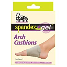 FootMatters Arch Support Cushions - Comfort Spandex Gel Pads - 1 Pair