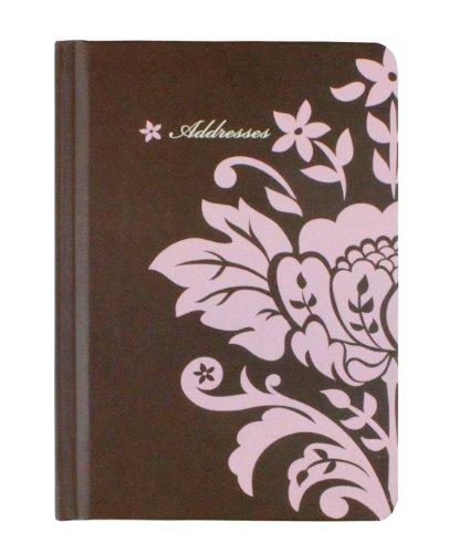 Flowers Address Book (HALLMARK 4.5-Inch x 6.5-Inch Floral Address Book (Pink Flowers))
