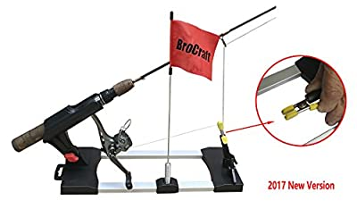 BroCraft Ice Fishing Tip-Ups / Ice Fishing Rod Holder / Ice Fishing Tip Down / Ice Fishing Rigger