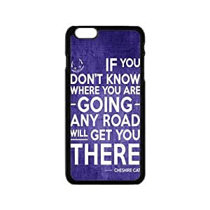 New Create Alice in Wonderland Cheshire Cat Quotes Case Cover for iPhone 6 Case 4.7 inch Screen iPhone(4)