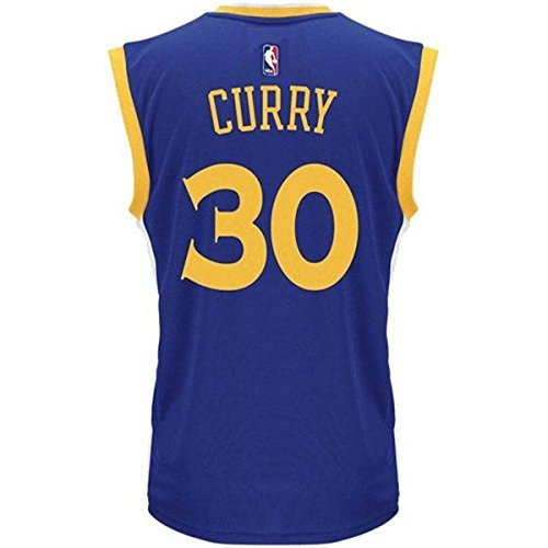 competitive price 3d9f3 13d42 adidas Stephen Curry Golden State Warriors #30 NBA Youth Road Jersey Blue