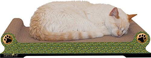 Large Regular Sofa Cat Scratcher Style: Peacock (As Shown) ()