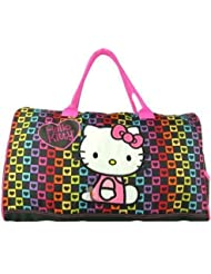 Hello Kitty Duffel Bag Checkered Style