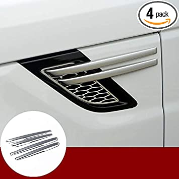 Hlyjoon Car Vent Cover Left Driver Side AC Air Outlet Vent Trim Cover Set ABS Plastic Carbon Fiber Style Air Vent Trim Fit for Land Rover Discovery Sport 2015 2016 2017
