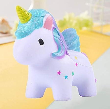 Amazon.com: Peluche de unicornio suave y lento, arcoíris ...