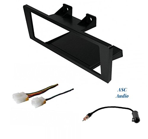 Premium Car Stereo Install Dash Kit, Wire Harness, and Antenna Adapter to Install an Aftermarket Single Din Radio for Select 86-93 Nissan Hardbody Truck and Pathfinder - See Compatible Vehicles Below ()