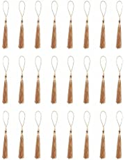 Ruwado 50 Pcs Handmade Tassels 5 Inch Small Floss Bookmark Tassel with Cord Loop for Jewelry Making DIY Project Chinese Knot Souvenir Crafting Home Decoration