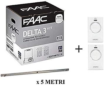 Faac Delta 3 Kit de automatización de puerta corredera 900 kg 105630445 + cremallera Hiltron 5 metros: Amazon.es: Bricolaje y herramientas