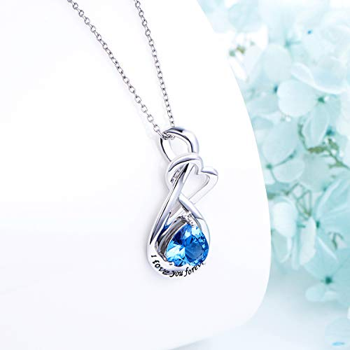 YinShan I Love You Forever Heart Necklace Jewelry Sterling Silver Pendant by YinShan (Image #3)