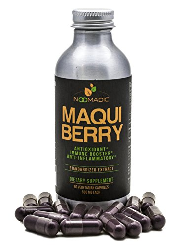 Maqui Berry Capsules, Antioxidant (High ORAC), Anti-Aging, Immune Booster, 10% Anthocyanins, Standardized Extract