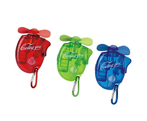 esbuy Carabiner Water Misting Fans Cooling Fan Mini with Hanger 3pcs,one Set