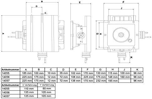 PAULIMOT Kreuztisch 225 x 175 mm 360° drehbar