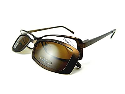 Calvin Klein Eyeglasses With Snap-On Sunglasses CK5280MAG-SET 210 (Brown)