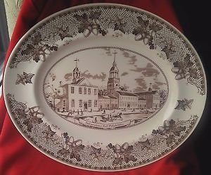 Amazon.com | Johnson Brothers Historic America 13-Inch Platter: Platters