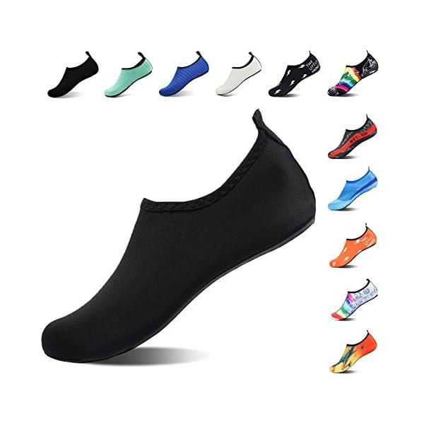 20012b70b794e3 ROTOK Water Shoes Aqua Socks Barefoot Outdoor Beach Sport Yoga Swim Surfing  Shoes Non-Slip