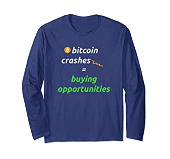 Unisex Bitcoin Crashes Equals Buying Opportunities Small Navy