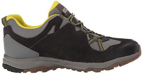 Jack Wolfskin Uomini Roccia Sabbia Texapore Bassa M Da Trekking Impermeabili E Scarpe Da Trekking Basse Grigio / Verde
