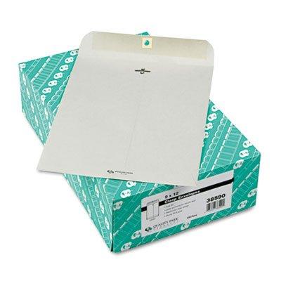 Clasp Envelope, 9 x 12, 28lb, Executive Gray, 100/Box