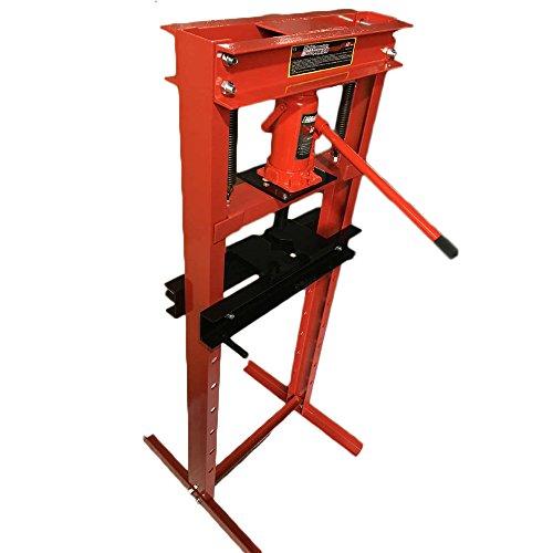 Million Parts Hydraulic Shop Press Heavy Duty H Frame Floor Press Jack Stand Equipment 12 Ton Capacity 12 Ton Shop Press