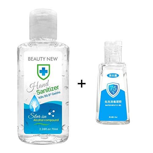 Ehinew Hand Sanitizer Gel for Kitchen Bathroom Office Traveling,moisturizing(70 ml+30ml)