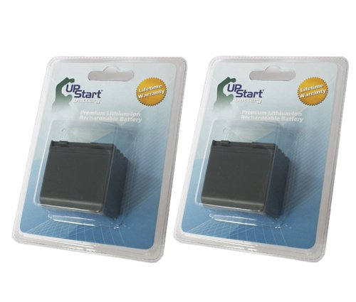 UpStart Battery 2X Pack - BP-2L24H Replacement Battery for Canon BP-2L12, BP-2L13, BP-2L14, BP2L24H, MV800, ZR200, ZR100, HV20, HV30, MD101, Vixia HV40, HG20 Camcorders Brand with