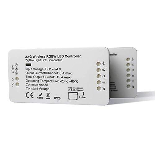 GIDERWEL Home Smart RGBW ZigBee Strip Controller Work with Amazon Alexa Echo Plus Voice Control,Hue Gateway Lightify Zll Standard by APP Control RGB RGBW Strip Light