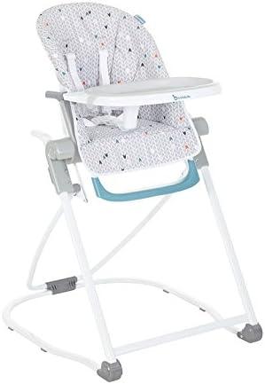 Badabulle Chaise Haute Grise Compacte et Multipositions pour Bébé