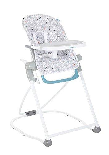 Badabulle Compact High Chair Grey