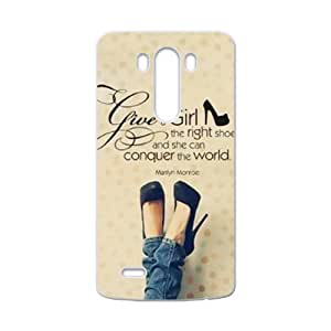 Marilyn Monroe give a girl the right shoes Quote Cell Phone Case for LG G3
