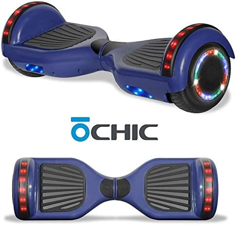 Chic Electric Rechargeable Hoverboard for Kids and Adults with Wireless Speaker and LED Flashing Lights Safety Certified