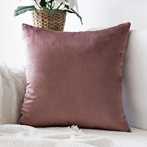 MIULEE Decorative Velvet Pillow Covers Soft Square Throw Pillow Covers Soild Cushion Covers Jam Pillow Cases for Sofa Bedroom Car 24 x 24 Inch 60 x 60 cm (Jam Cover)