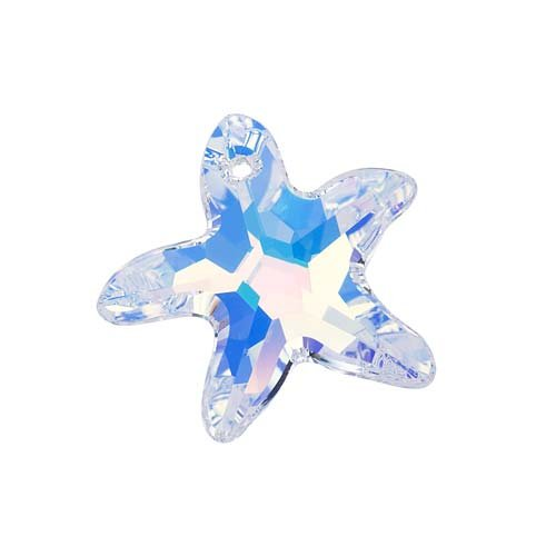 SWAROVSKI ELEMENTS Crystal Starfish Pendant #6721 20mm Crystal AB (1)