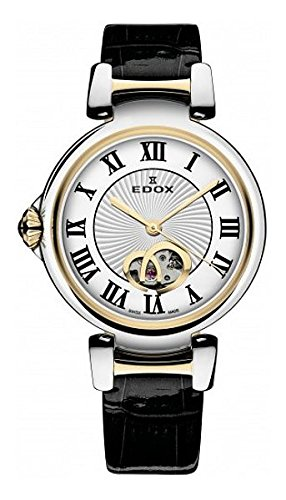 Edox Women's 85025 357RC ARR LaPassion Analog Display Swiss Automatic Black Watch
