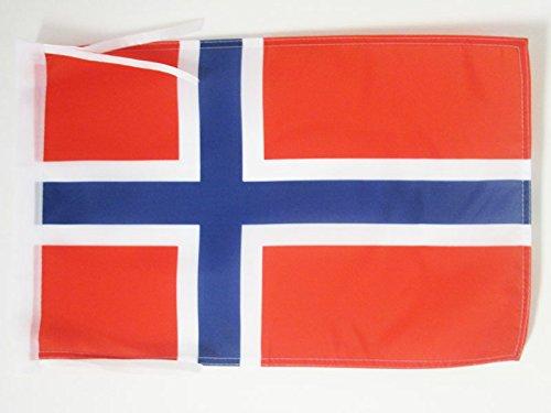 BANDERINA Noruega 30 x 45 cm cordeles AZ FLAG Bandera de Noruega 45x30cm