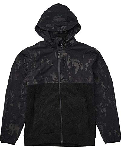 Billabong Men's Boundary Multicam Zip Fleece Black Camo Small ()