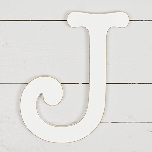 UNFINISHEDWOODCO 300595 11.5'' Typewriter Wall Decor Letter J- White by UNFINISHEDWOODCO