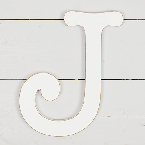 11.5'' Typewriter Wall Decor Letter ''J''- White