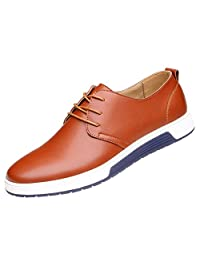 QCO Men's Classic Casual Oxford Flats Sneakers Shoes Lace up