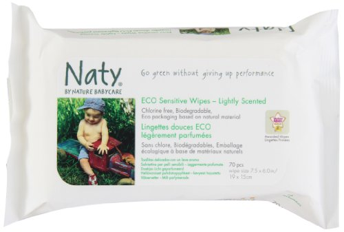 Naty Eco-sensitive Lightly Scented Wipes, 70-Count (Pack of 10) by Naty by Nature Babycare