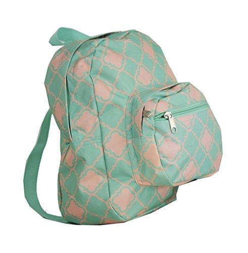Mini Backpack - Quatrefoil - Mint Green ()