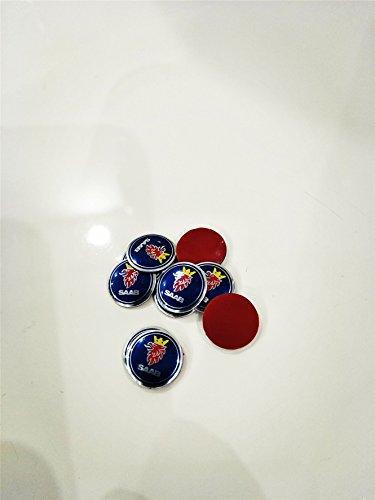 kil1 2 Pieces Car Key Logo Auto Emblems 12 mm for SAAB ()