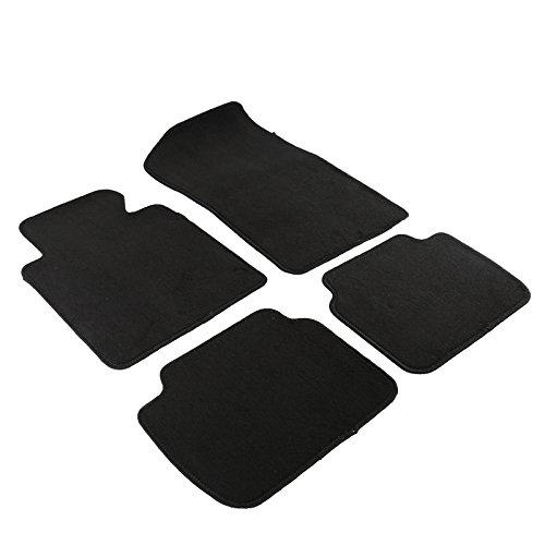BMW E46 3-Series Black Cotton Car Floor Mats Carpet Front+Rear 4PC