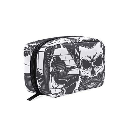 Makeup Bag Cool Beard Skull Cosmetic Pouch Clutch