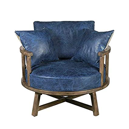 Remarkable Amazon Com Home Fare Leather Swivel Club Chair With Wood Onthecornerstone Fun Painted Chair Ideas Images Onthecornerstoneorg