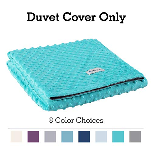 (ALPHA HOME Removable Duvet Cover for Weighted Blanket, Reversible Design, 60